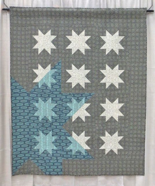 New Star Rising, made and quilted by Ben Darby, QuiltCon 2013, 1st Place (category: Modern Traditionalism, Large)