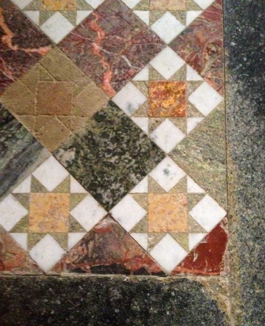 More patchwork floors to inspire, this one at Sudeley