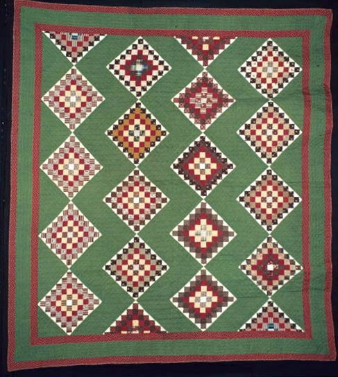 Six-Patch, maker unknown, probably Virginia, c. 1870 - 1890; from the Ardis and Robert James Collection, International Quilt Study Center & Museum