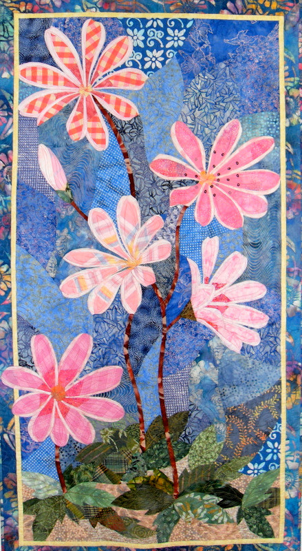 Cliff Maids, a wall quilt by Sue Rasmussen