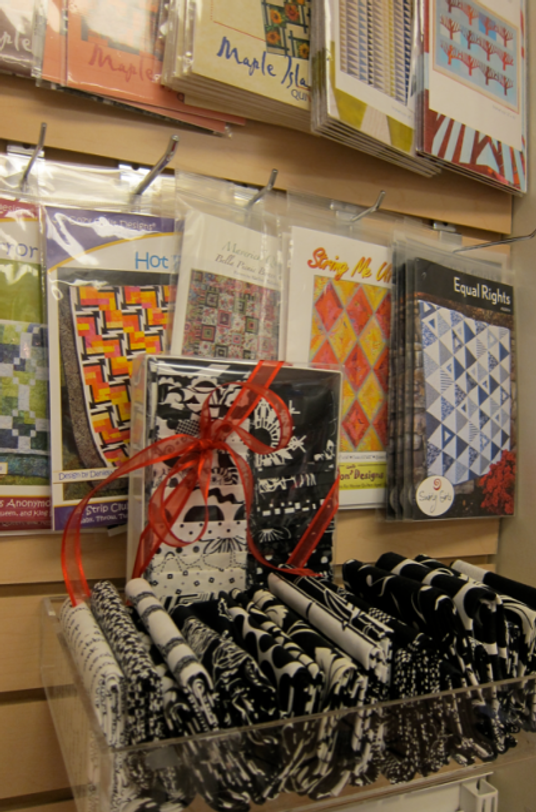 Yet more pattern fare from Cotton Patch--every niche in the store has a display!