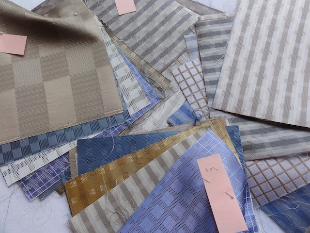 Neutral colors for wedding quilt.