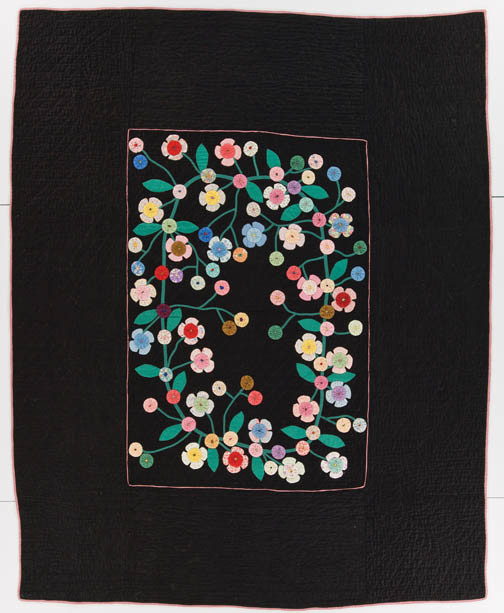 """Roosevelt Rose (67"""" x 82""""), maker unknown, c. 1934 (probably made in Missouri), in the General Collection of the International Quilt Study Center & Museum"""
