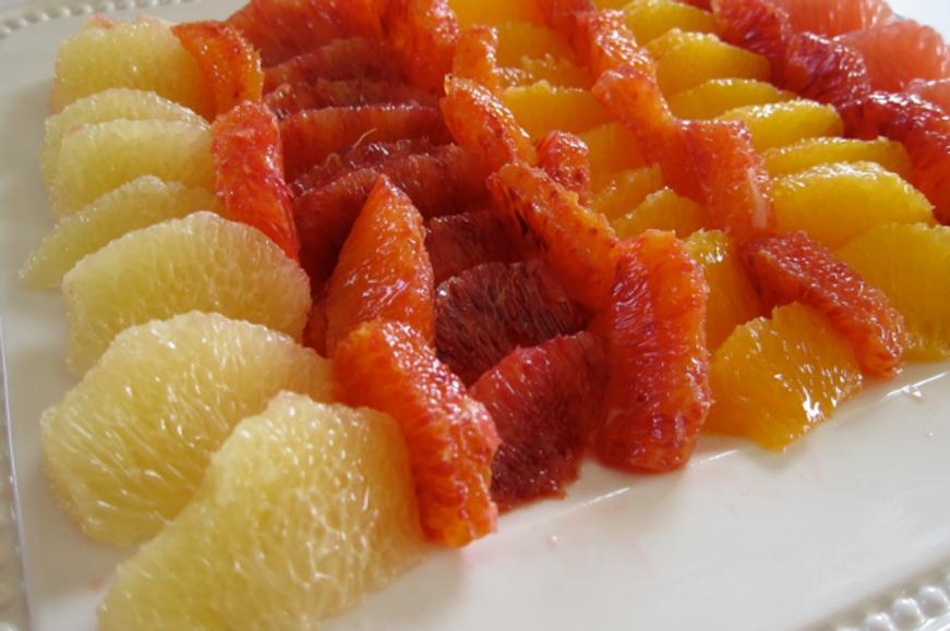 Inspiration-J:  Citrus fruit plate