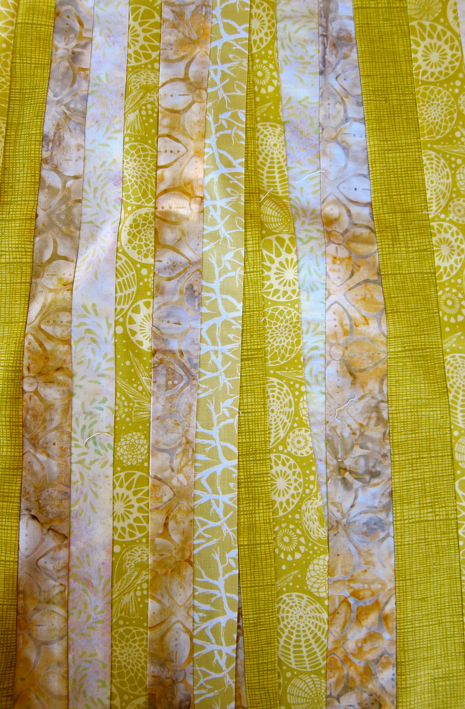 Project-J:  Pieced fabric for pear project
