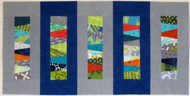 """Darra's blocks sewn together (13 1/2"""" x 17 1/2""""), ready to be basted and quilted"""