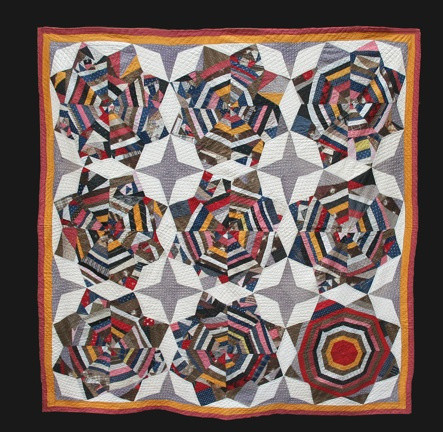 String Star Circa 1880. Cottons Who knows why a woman might organize her color this way: So many old quilts come to us without any history attached. Don't we wish we could ask her?