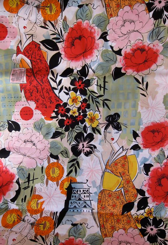 Fabric-J:  Harajuku Ladies by Robert Kaufman