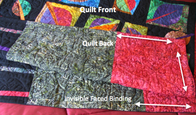 Invisible faced binding on Kim Butterworth's quilt.
