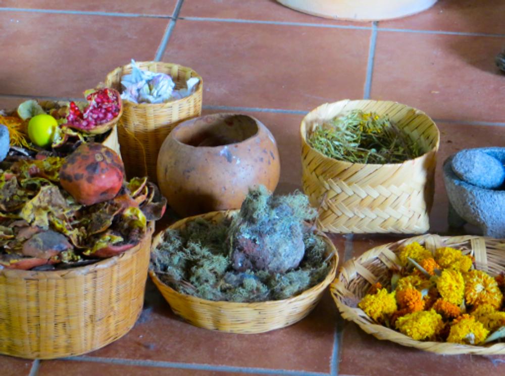 Natural dye ingredients.