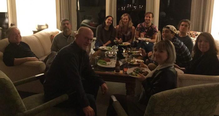Friends and Family at Hanukkah