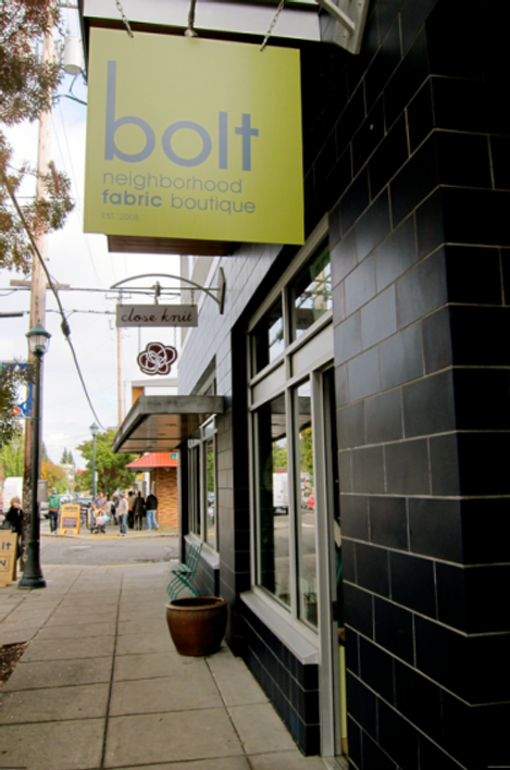 Bolt, a fabric boutique in Portland's Augusta neighborhood.
