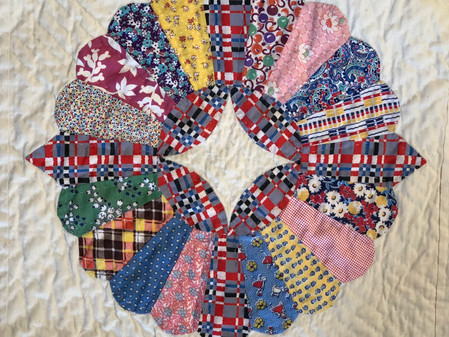 Hand Quilting an Antique Quilt – A Story of Serendipity
