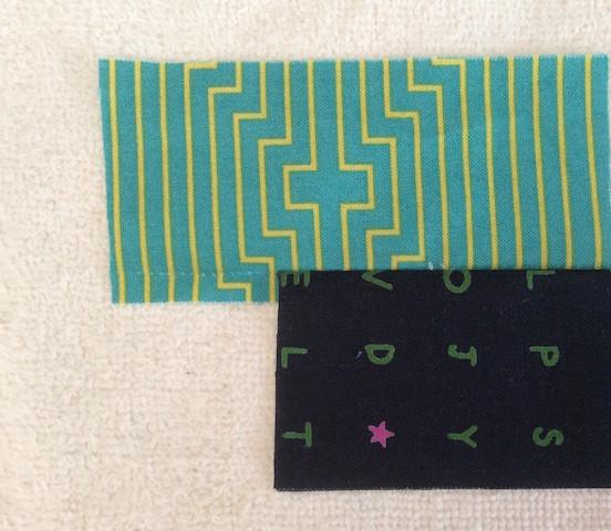 Offset Fabric strips A-1 & A-2.