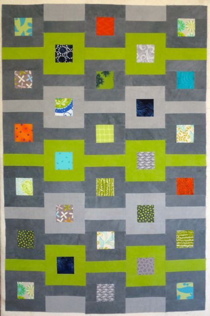 """Quilt top (35"""" x 42"""") made by Darra Williamson"""