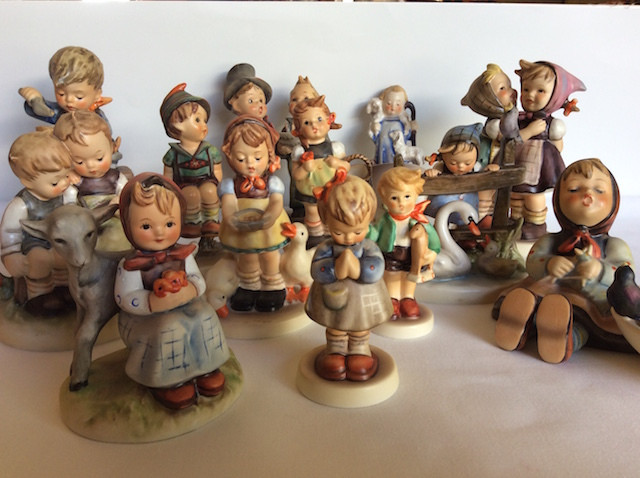 A small sampling of my mother's Hummel collection.