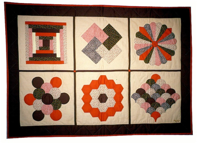 My first quilt. Made in a class at Poppy Fabrics in Berkeley, CA in 1979.