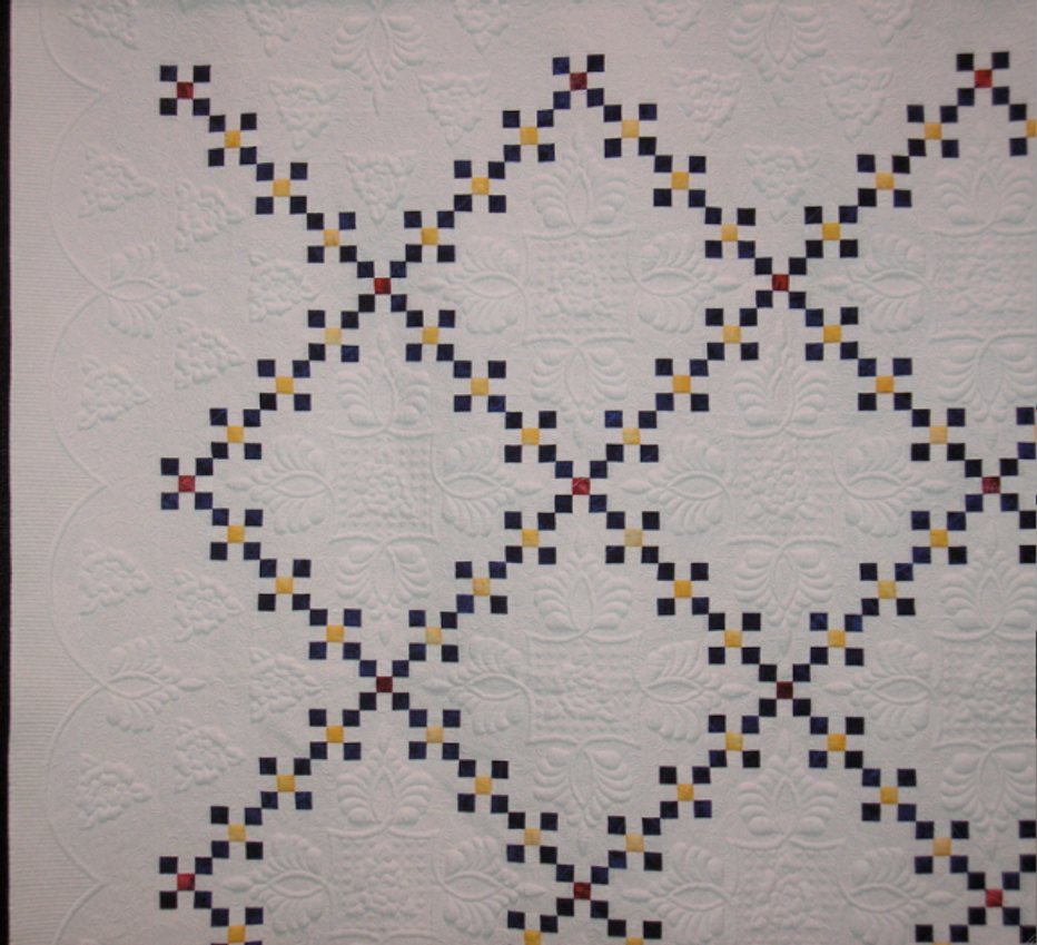 """Quilt-J:  """"Simplicity"""" detail view by Marla Monson"""