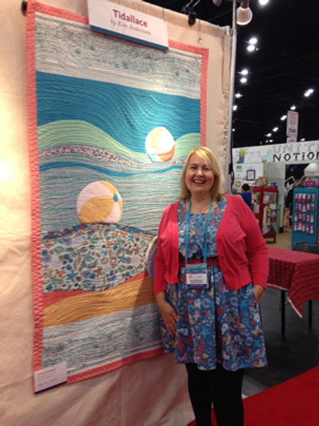 Kim Andersson and A Day At the Shore Quilt for her Tidal Lace Collection