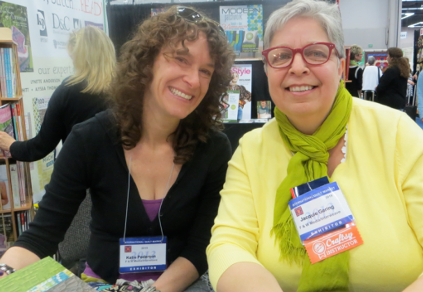 """The """"Quilting Modern"""" duo of Jacquie Gehring and Katie Pedersen."""
