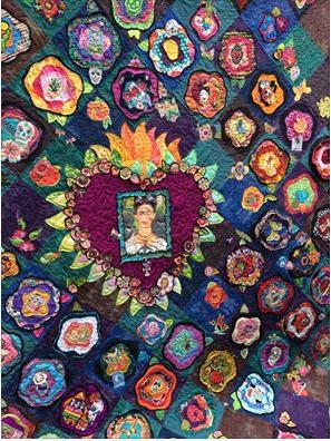 Friday Kahlo inspired birthday quilt for Margaaret.