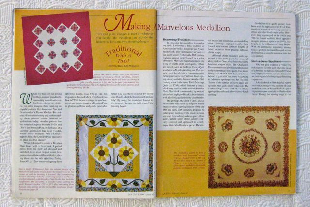 Quilting Today spread