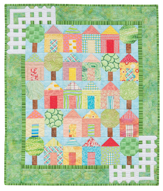 """It Takes a Village; 32 1/2"""" x 38 1/2"""", designed and pieced by Darra Williamson, machine quilted by Christine Porter, from our book, """"Cuddle Me Quick"""""""
