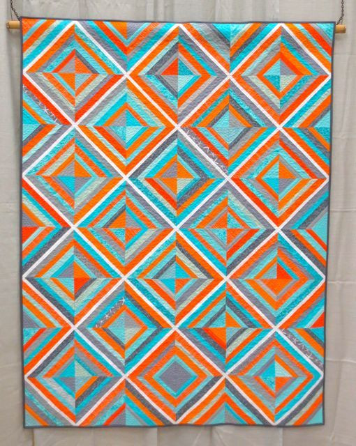 Stringtastic, made and machine quilted by Nicole Neblett (Quiltcon 2013, category: Modern Traditionalism, Large)