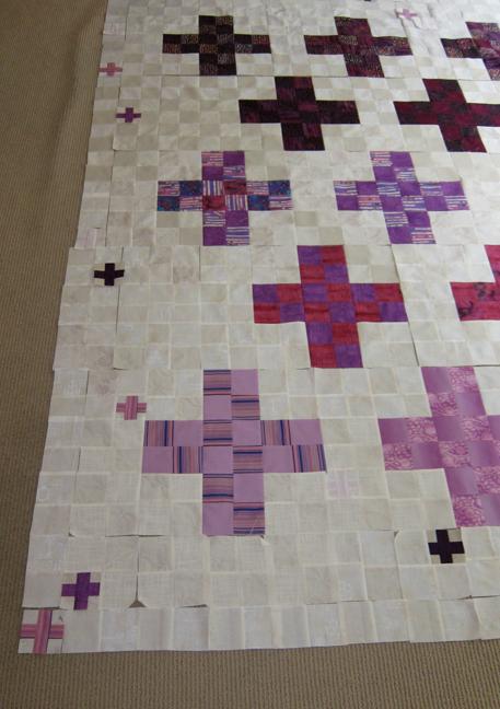 Quilt-J:  Detail Crosses Quilt