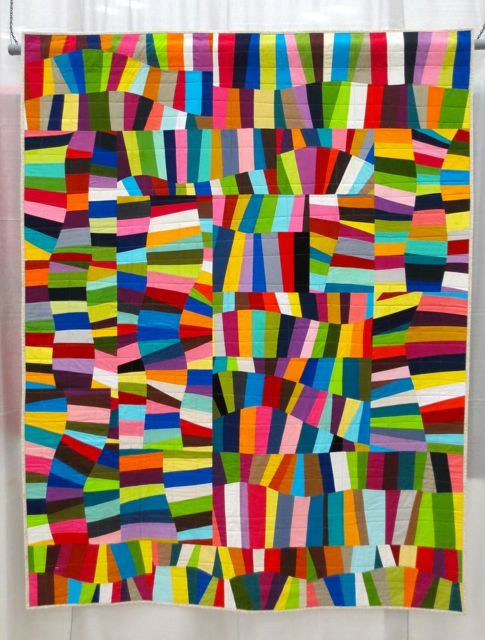 Oodalolly, made and machine quilted by Rachel Hauser (QuiltCon 2013, category: Improvisation, Large)