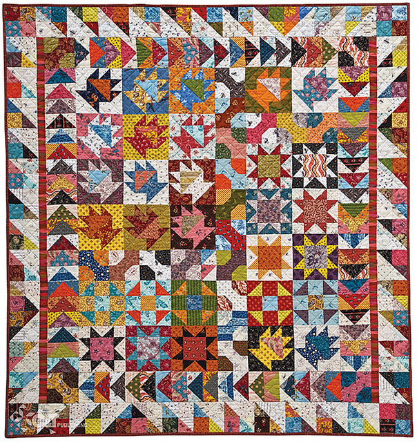 """52 1/2"""" x 56 1/2"""", designed and pieced by Alex Anderson, machine quilted by Dianne Schweikert. Photo courtesy of C&T Publishing."""