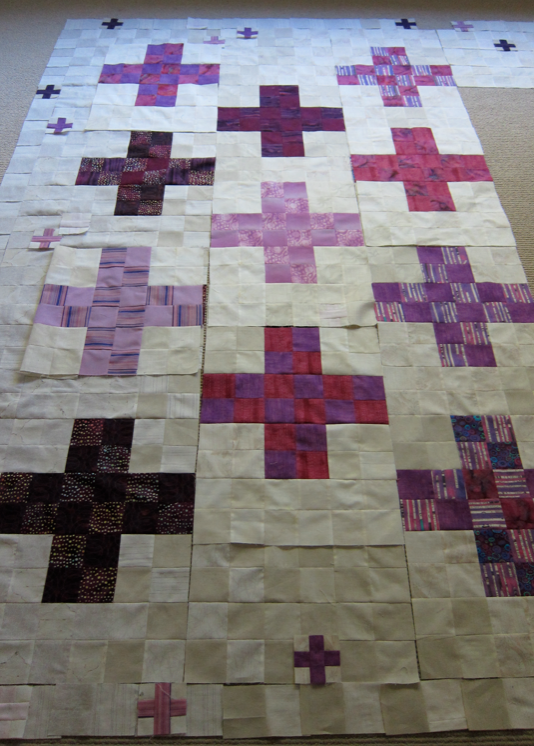 Oh yes, I much happier quilt now that I'm abandoning the color-value layout.