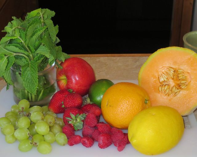 Ingredients for one afternoon's juice