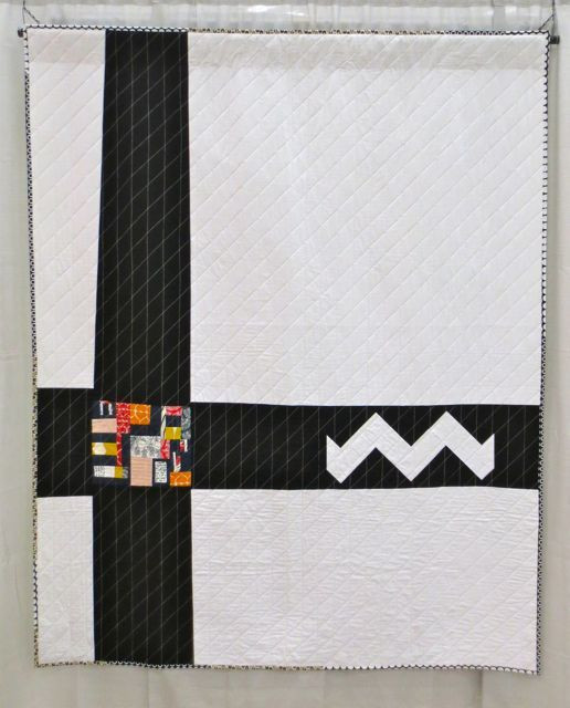 Natani Blanket, made and machine quilted by Katrina Hertzer (QuiltCon 2013, category: Improvisation, Large)