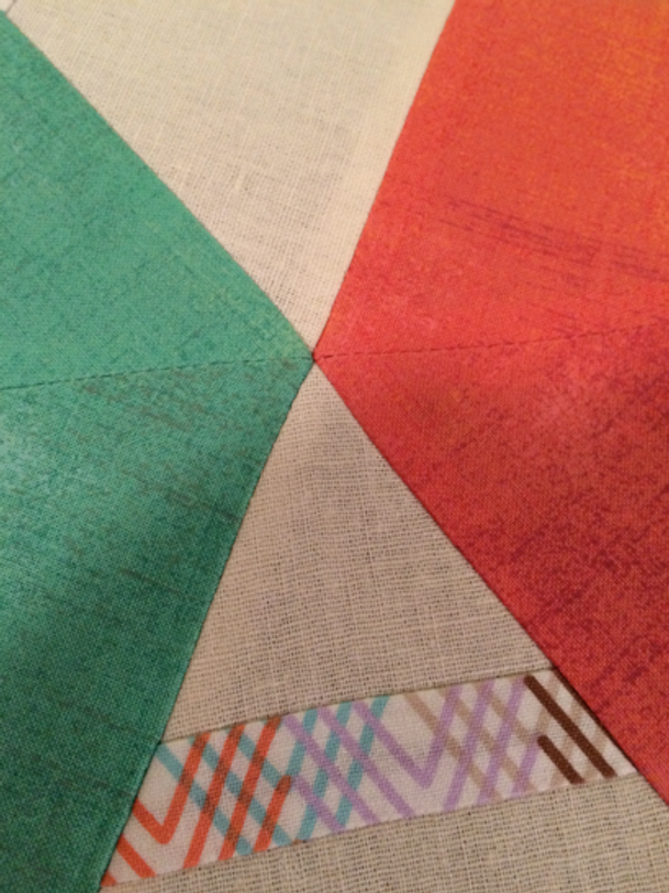 Sewn with care, this Kaffe Fassett pattern builds perfectly!