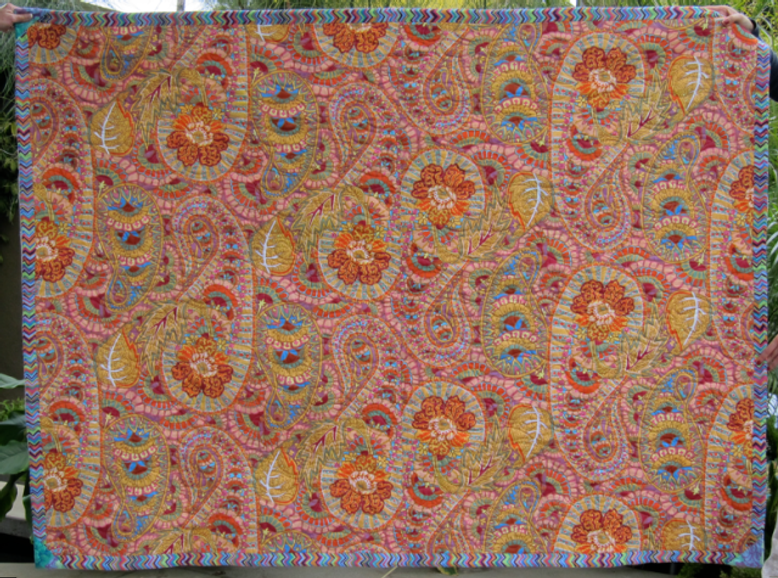 Quilt-J:  Back Side of Laurence's Scrappy Quilt