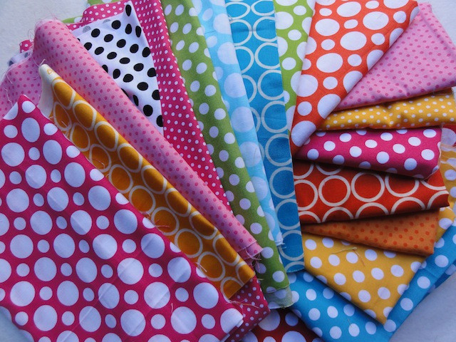 I love these dots by Robert Kaufman fabrics.