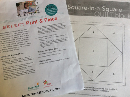 Select Print & Piece – New Product for Foundation and Paper Piecing & Giveaway