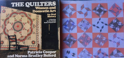 """""""Tumbling Diamonds"""" quilt featured in the book, The Quilters."""