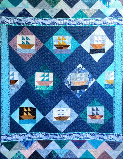 Caribbean Taxis, pieced and hand quilted by Darra Williamson, 1992