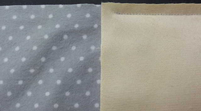 """Begin and end 1/4"""" from each end of the front fabric."""