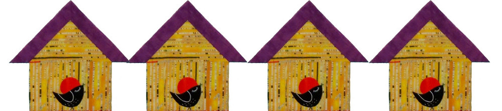 Row birdhouses from See How We Sew Quilt-Along