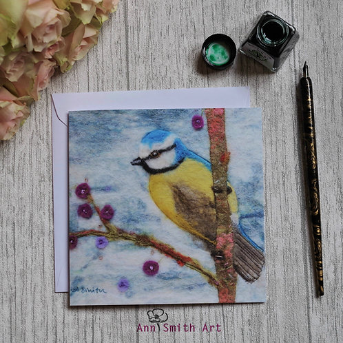 Our Little Garden Visitor Art Square Greetings Card