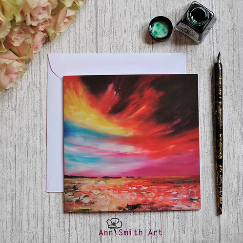 Storm Brewing  Square Art Greetings Card