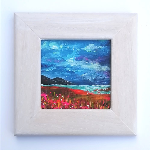 Mini Acrylic Painting - Blue Skies In Summer