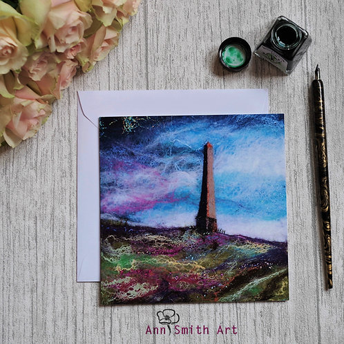 The Monument, Langholm Square Art Greetings Card