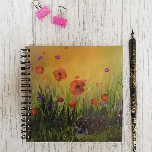 Down In The Garden Square Notebook