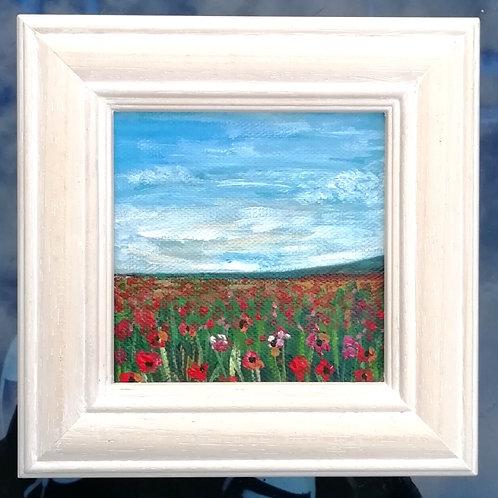 Mini Acrylic Painting -Wild Meadow