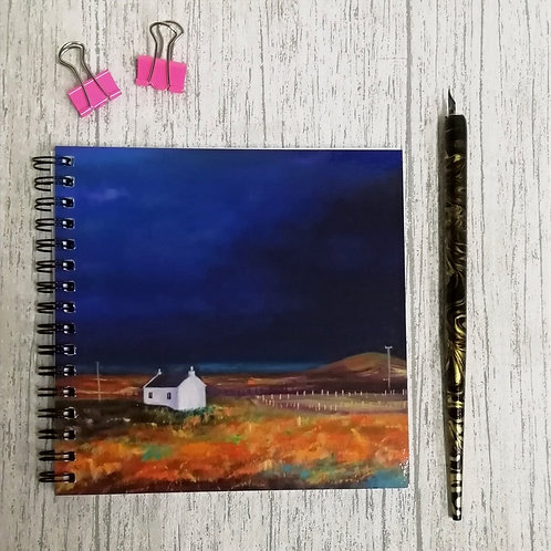 Heavy Blue Skies Square Notebook