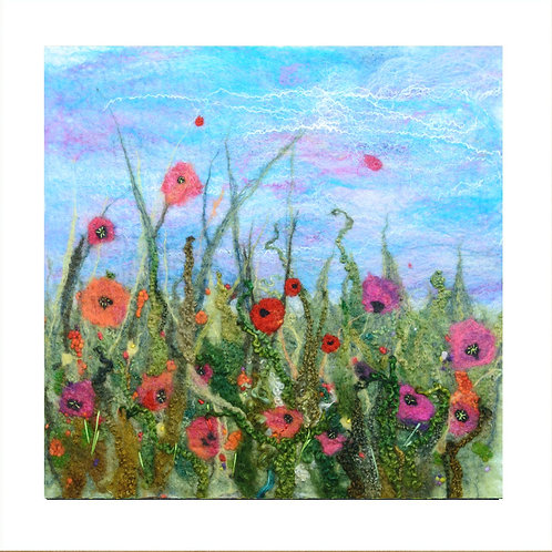 Dancing In The Breeze - Mounted Giclee Print